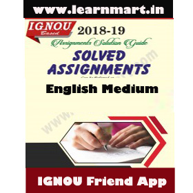 MGPE-08 Solved Assignment English Medium 2018-19(Soft Copy)