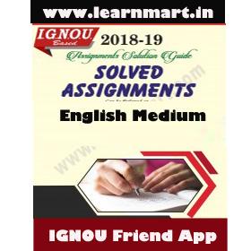 MPC-04 Solved Assignment English Medium 2018-19 (Soft Copy)