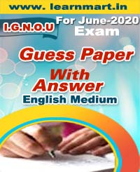 MS-95 GUESS PAPER FOR JUNE-2020 EXAM ENGLISH MEDIUM (SOFT COPY)