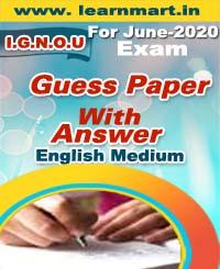 MS-95 GUESS PAPER FOR JUNE-2020 EXAM ENGLISH MEDIUM (SOFT COPY)
