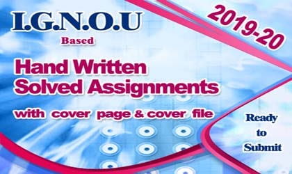 Now IGNOU Hand Written (Ready Made) Solved Assignment Available (HARD COPY).